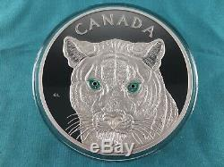 1 Kilo Silver 2015 Canada In the Eyes of the Cougar Coin Only 500 Mintage