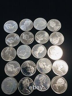 1 ROLL (20 PCS) 1965 GEM PROOF LIKE Canadian 80% silver half dollars