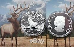 $100 2016 THE ELK 1OZ Pure Silver Proof Coin Canada