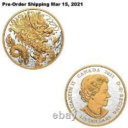 16.15oz 2021 Triumphant Dragon Pure Silver Coin Pre-Order