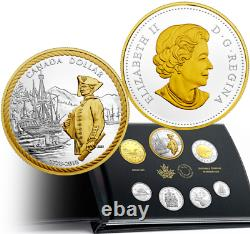 1778-2018 Pure Silver Proof Set 7-Coins 240Anniversary Captain Cook Nootka Sound