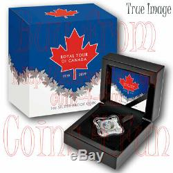 1939-2019 Royal Tour of Canada $1 Pure Silver Proof Star Shaped Dollar Coin Niue