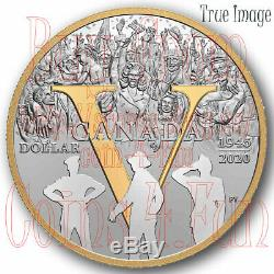 1945-2020 75th Anniversary of VE Day Pure Silver Proof 7-coin Set Canada