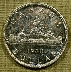 1948 Canada Silver Dollar AU Uncirculated Proof Like Key Date