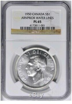 1950 Canada Silver $1 Coin (Arnprior) NGC MS-65 PL Proof-Like