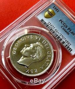 1951 Canada Silver 1 Dollar Proof Like Coin PCGS PL 66+ Gem