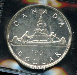 1951 Proof Like Canada Silver Dollar ICCS PL-65 Cert#XP457