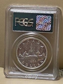 1954 Canada $1 YOUNG HEAD Dollar Silver Coin Elizabeth II PL 65 PROOF CAMEO