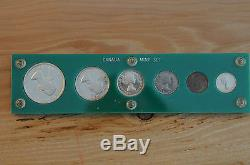 1955 Canada Silver Proof-Like Gem Set of 6 Coins in holder