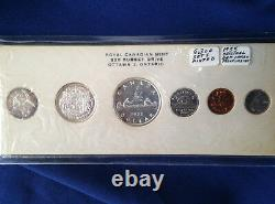 1955 Canada Silver Proof-Like Set of 6 Coins E4415