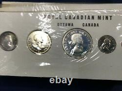 1960 Canada Silver Proof-Like Set Lot of 10 Sets Stamp Two Holder E7768