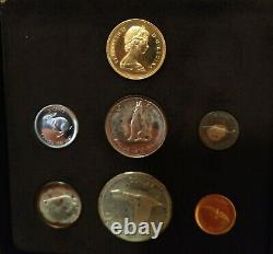 1967 Canada 7 Coin Centennial Proof Set Royal Canadian Mint $20 Gold + Silver