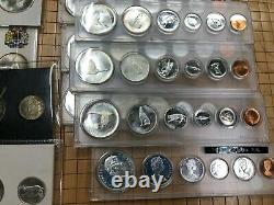 1967 Canada Centennial Proof-like and BU Sets lot of 13 Silver Sets E7810