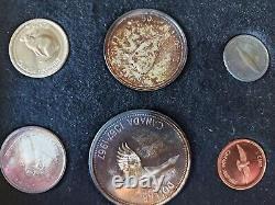 1967 Canada Confederation Centennial 7 Coin Proof Set INCLUDES $20 GOLD & Silver