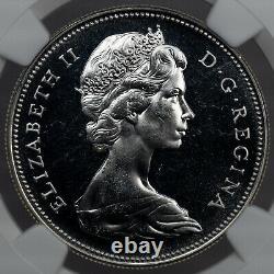1967 Canada Silver Dollar Goose Proof Like Ngc Pl65 Bu Blast White Unc Gem (dr)