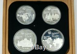 1976 Canada $5 & $10 Olympic 4 Coin Commemorative Proof Set -925 Sterling Silver