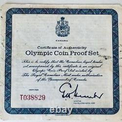1976 PROOF SILVER CANADIAN SERIES ll OLYMPIC MOTIFS 4 COIN SET IN BOX W COA