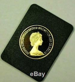 1977 CANADA $100 DOLLARS GOLD COIN ELIZABETH II SILVER JUBILEE 9999 1/2 Troy Oz