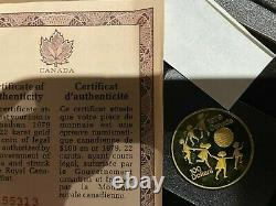 1979 $100 Canada Gold Coin Proof Year of Child 1/2 oz gold 22 Carat Gold