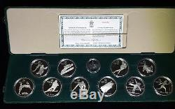1985 1988 CANADA COMPLETE CALGARY OLYMPICS PROOF SILVER SET (10) 10 Oz ASW