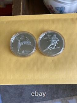 1988 CANADA OLYMPIC SILVER 10 coin proof set ten $20 coins 10 oz. Silver