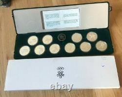 1988 Canada Calgary Winter Olympics Silver Proof $20 20 Dollars Set