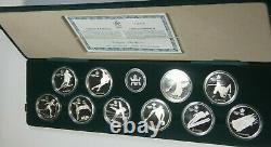 1988 Canada OLYMPIC Winter Games Silver Proof Set 10 pcs. Mint Box/COA #LM185