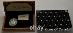1989 Canada Commemorative Proof $5 Silver Maple Leaf in Wood Box #coinsofcanada
