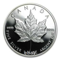 1989 Silver Maple Leaf Commerative 5 Dollar Proof withCOA and Box