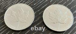 1996 -CANADA PLATINUM 1 oz. MAPLE LEAFS 2-COIN LOT BU PROOF MINT STATE