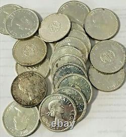 (20) 1964 Canada Proof Like PL Silver Dollar BU Roll $20 Face Silver Canadian