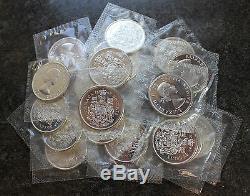 (20) 1964 Canada Proof Like PL Silver Half Dollars BU $10 Face Roll Canadian