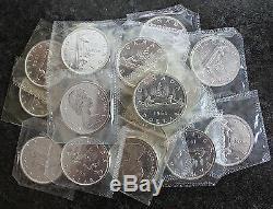 (20) 1965 Canada Proof Like PL Silver Dollar BU Roll $20 Face Silver Canadian