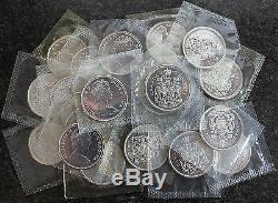 (20) 1965 Canada Proof Like PL Silver Half Dollars BU $10 Face Roll Canadian
