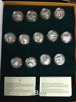 2001-2003 Canada 50 Cent Festival Series Silver Proof Coin Set 13 Coins