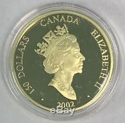 2002 Canada $150 Year of the Horse Gold & Silver Hologram Proof Coin w Box & COA