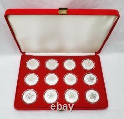2004 Canada $5.00 1 oz Silver Maple Leaf. 9999 Zodiac Privy Set Reverse Proof