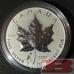 2005 CANADA Maple Leaf TULIP $5 SML privy mark 99.99% silver