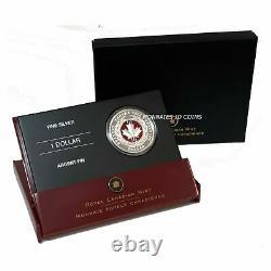 2006 Canada Enamel-Effet Proof Silver Dollar Medal Of Bravery