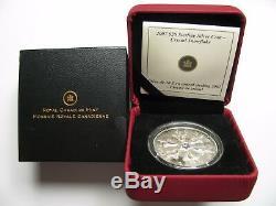 2007 Proof $20 Crystal Snowflake #2-Iridescent Canada. 925 silver twenty dollars