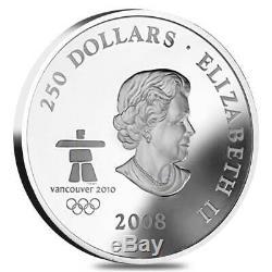 2008 Canada 1 Kilo Proof Silver $250 Olympic Games Towards Confederation