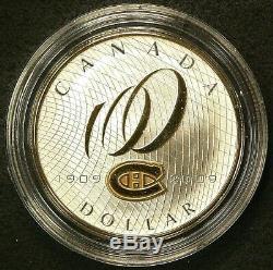 2009 Canada $1 Dollar Montreal Canadians Silver Proof No CoA Hockey #6250