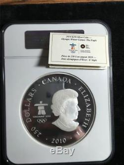 2010 $250 Canada Olympics Kilo Silver. 999 Fine Silver (eagle) Ngc Pf 70 Ultra C