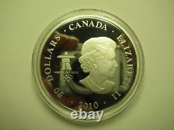 2010 Proof $50 5 oz. 9999 Silver Maple Leaf Vancouver Olympic Look of the Games