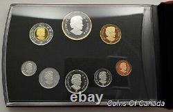 2011 Canada 8 Coin Silver PROOF Set with Gold Plated Silver Dollar #coinsofcanada