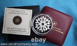 2011 Canada Swarovski Crystal Snowflakes 1oz Silver Proof $20 Coin Emerald