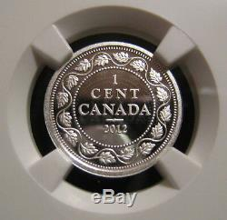2012 CANADA 1c FAREWELL PENNY NGC PF70 UC 1911-1920 Design Silver Proof Cent