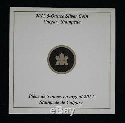 2012 Canada $50 100th Anniversary Calgary Stampede 5oz Silver Item#T10446-8