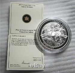 2012 Canada $50 dollars 5 Oz. 9999 silver coin 100th Anniversary Calgary Stamp