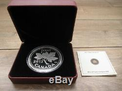 2012 Canada Farewell to the Penny 1 Cent 5 Oz Pure Silver Proof Low 1,500 minted
